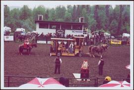 Iona Campagnolo speaking at the opening ceremonies of the Kispiox Valley Rodeo