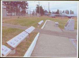 Row of commemorative stones at the Comox Valley Air Force Museum