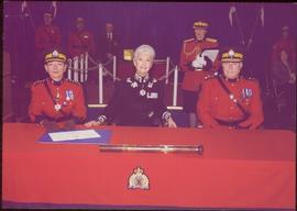 Lieutenant Governor Iona Campagnolo overseeing the RCMP Change of Command at Vancouver, BC