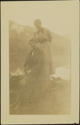 Sarah Glassey & Unknown Woman by Lake