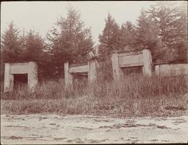 Haida tombs in Masset, Queen Charlotte Islands, BC