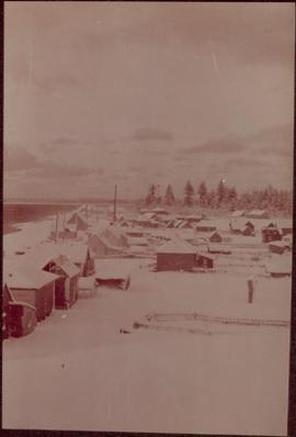 Winter view of Masset, Queen Charlotte Islands, BC