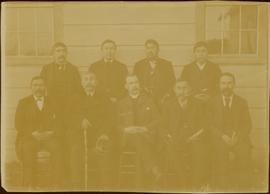 W.E. Collison with group of Lay Readers at Masset, Queen Charlotte Islands, BC