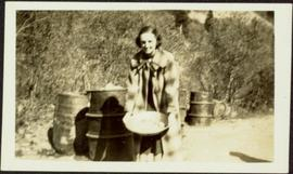 Woman Panning at Mine