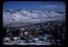 View of the Thompson River and residential area of Kamloops, BC