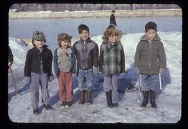 Group of small children outdoors at Cranbrook Residential School