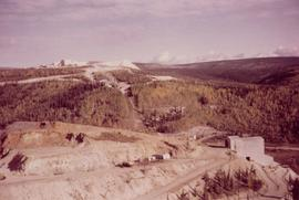Aerial view of Clinton Creek mine