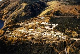 Aerial view of Clinton Creek residential area