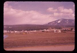 View of buildings from runway at Cranbrook, BC