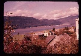 Houses on shore at Kitimat, BC
