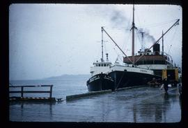 The SS Cardena docked in harbour after an accident