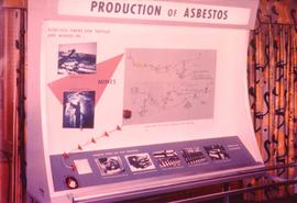 Production of asbestos display