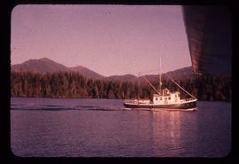 Freighter off coast of Queen Charlotte Islands, BC