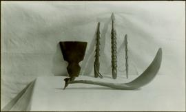 Feast ladle, harpoon heads and  unidentified item