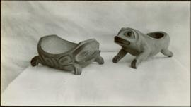 Two frog dishes
