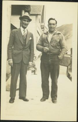 H.F. Glassey & Unknown Man in Street