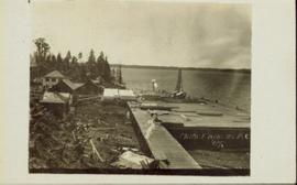 Dock littered with lumber in Prince Rupert BC