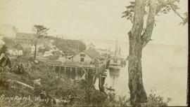 Prince Rupert wharf and harbor with annotations