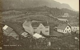 Close up of several buildings in Prince Rupert