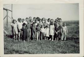 Class photo of Division II, Giscome School