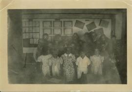 Division II children posing for a group photo at Giscome School