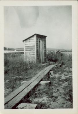 Teacherage outhouse