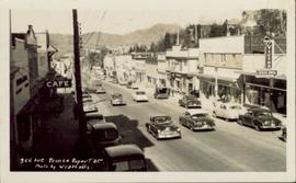Cars along Third Avenue in Prince Rupert BC