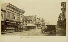Delivery vehicles on Third Avenue in Prince Rupert