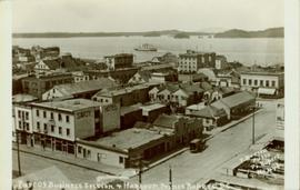Part of business section and harbour in Prince Rupert