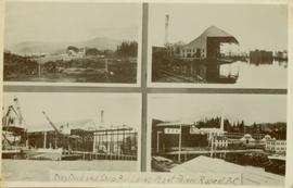 Collage of four dry dock images