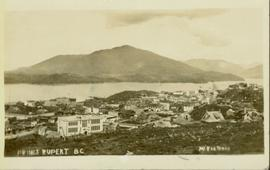 Elevated view of Prince Rupert buildings