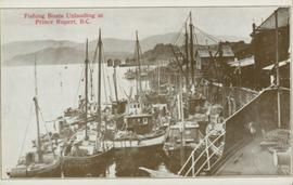 Fishing boats unloading at Prince Rupert BC