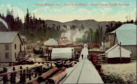 View from wharf of Grand Trunk Pacific Railway, Prince Rupert, BC