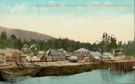 View from harbor of Grand Trunk Pacific Railway, Prince Rupert BC