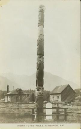 Indian Totem Poles, Kitwanga, BC