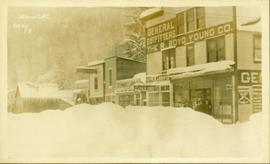 Downtown Stewart, BC in winter