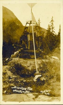 Boundary post between Alaska and BC