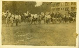 Convoy of carriages in Stewart, BC