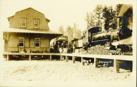 PCSL Railroad train in Stewart, BC