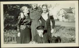 Sarah Glassey with Men in Military Uniforms
