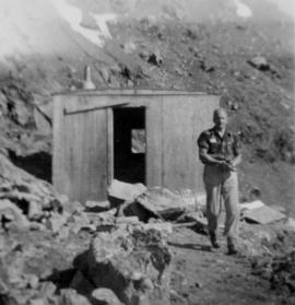 Manager's Photos - Gordon Little at Mine Shelter