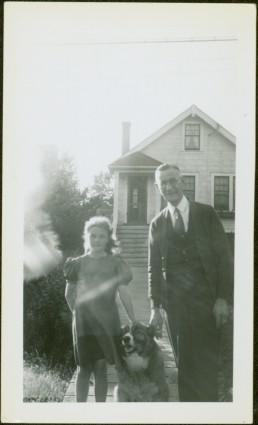 H.F. Glassey & Unknown Girl with Dog