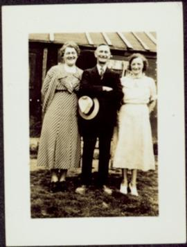 Sarah & H.F. Glassey with Woman named Hodges