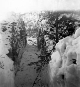Manager's Photos - Trench Through Snowbank at Mill