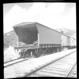 Flat car on the CPR line at Rock Creek