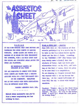 The Asbestos Sheet June 1961