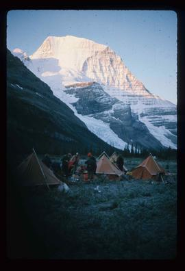 Camp and Mt. Robson