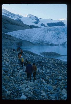 People and a Glacier