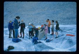 People on a Glacier