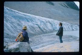Two People and a Glacier